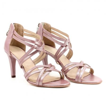Sandale din piele naturala roze gold Agrigento (GM 1903)0