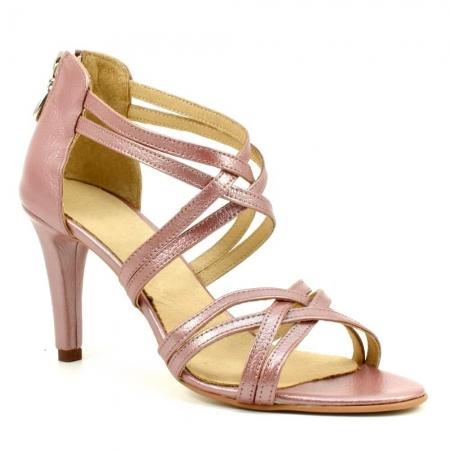 Sandale din piele naturala roze gold Agrigento (GM 1903)2