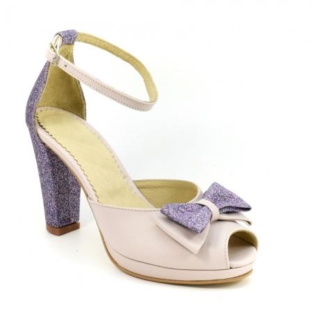 Sandale din piele naturala Silvianna ( GM 1902)1