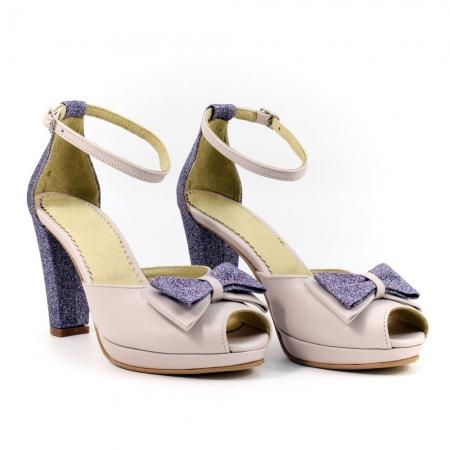 Sandale din piele naturala Silvianna ( GM 1902)0