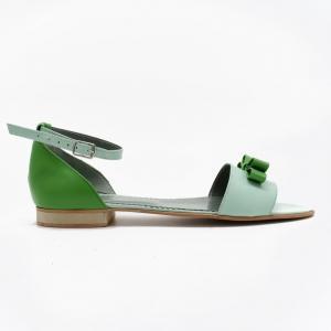 Sandale din piele naturala verde Lizy1