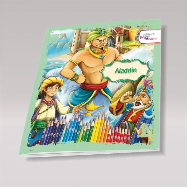 Carte de colorat si povesti pentru copii - Aladdin 0