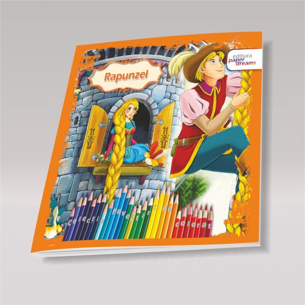 Carte de colorat si povesti pentru copii - Rapunzel 0