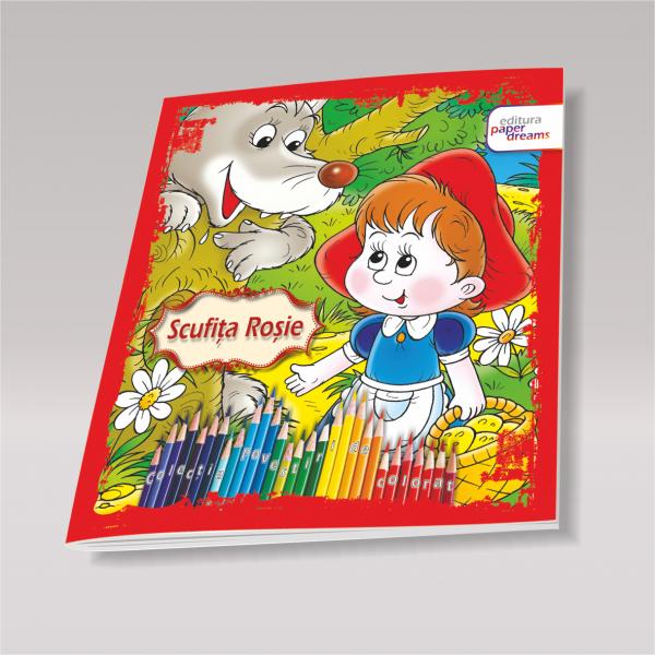 Carte de colorat si povesti pentru copii - Scufita Rosie 0