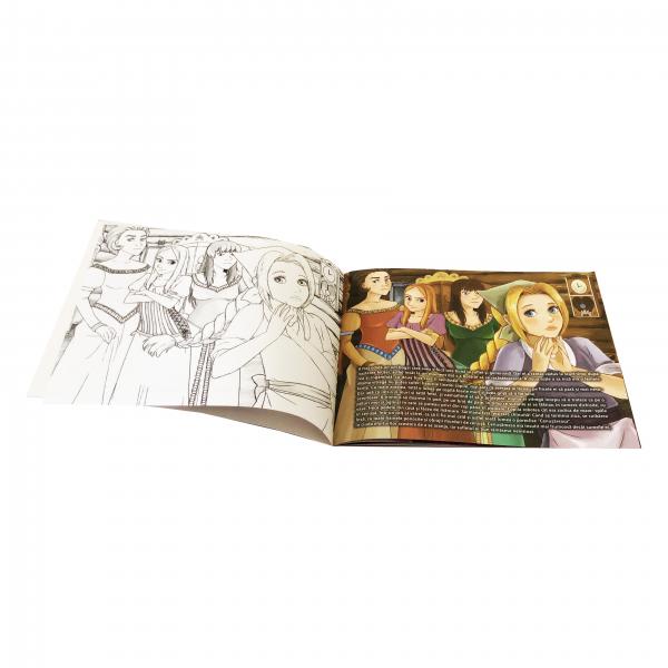 Carte de colorat si povesti pentru copii - Cenusareasa 2