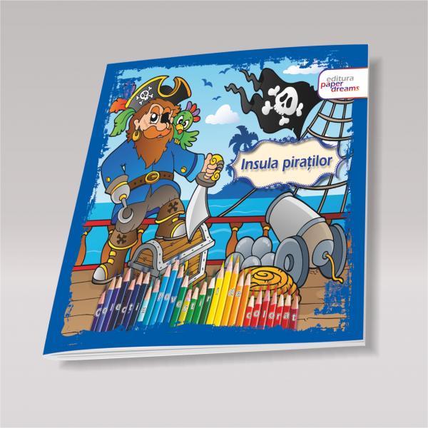 Carte de colorat si poveste pentru copii - Insula Piratilor [0]