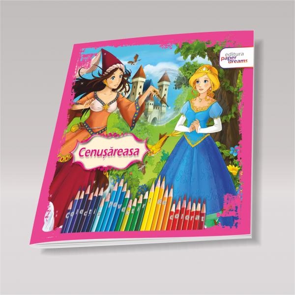 Carte de colorat si povesti pentru copii - Cenusareasa 0