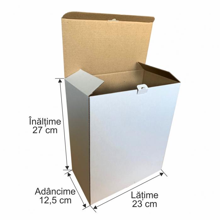 Cutie de carton microondul pentru expedieri 27 x 23 x 12,5 cm 0