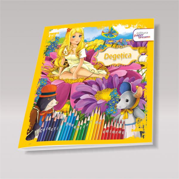 Carte de colorat si povesti pentru copii - Degetica 0