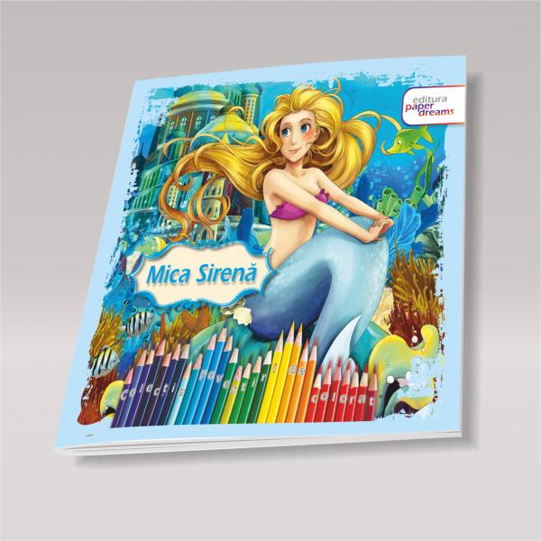 Carte de colorat si povesti pentru copii - Mica Sirena 0