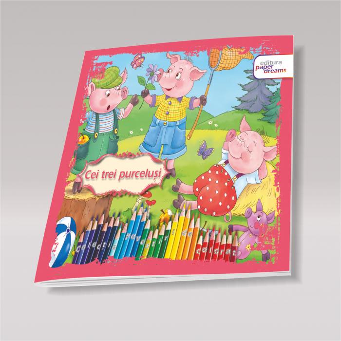 Set 12 carti de colorat si povesti pentru copii - Povestiri de colorat 1