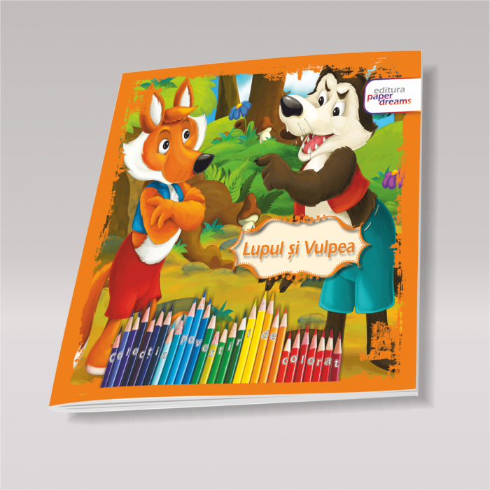 Set 12 carti de colorat si povesti pentru copii - Povestiri de colorat 5