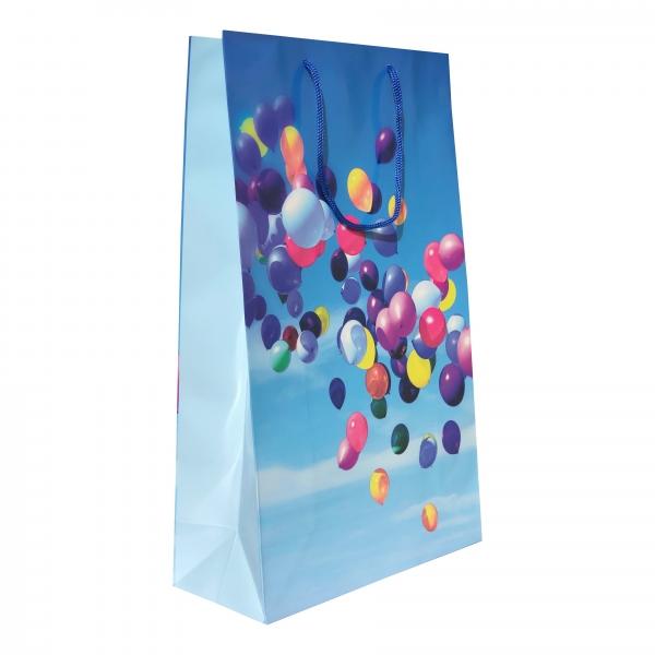 Punga cadou de hartie mare cu model baloane 0
