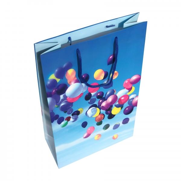 Punga cadou de hartie mare cu model baloane 1