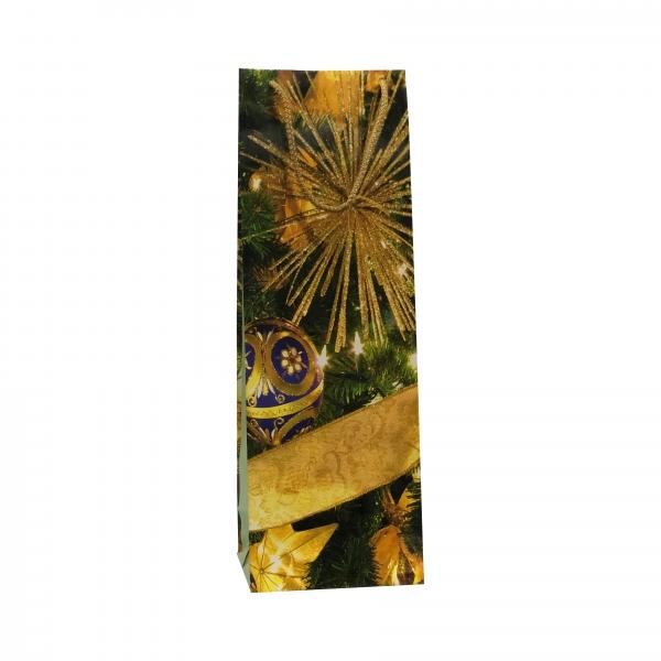 Punga cadou de hartie pentru sticla cu model iarna - decoratiuni Craciun 0