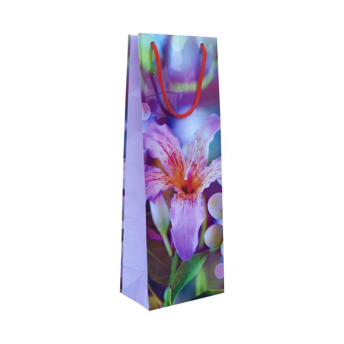 Punga cadou de hartie pentru sticla cu model vara - Floare 0