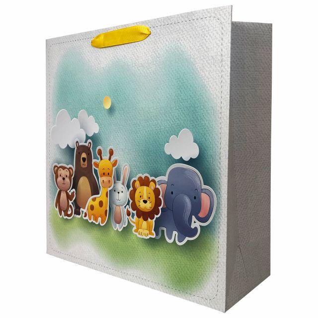 Punga de cadou cu model cu animale pentru copii, L [0]