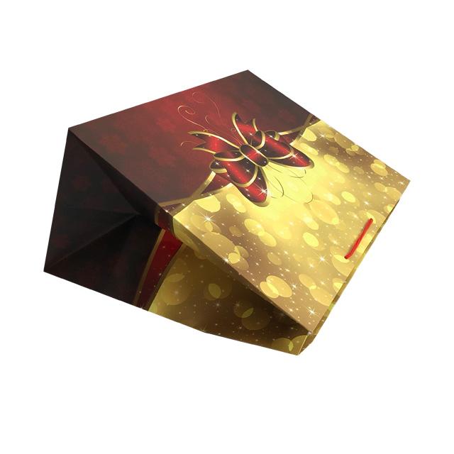 Punga de cadou gigant cu model funda de Craciun 2