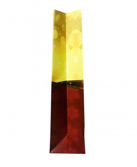 Punga de cadou mare cu model cu funda de Craciun [4]