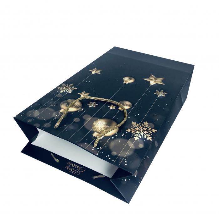 Punga de cadou mare cu model elegant de Craciun [3]