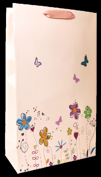 Punga cadou de hartie mare cu model vara - floricele [0]