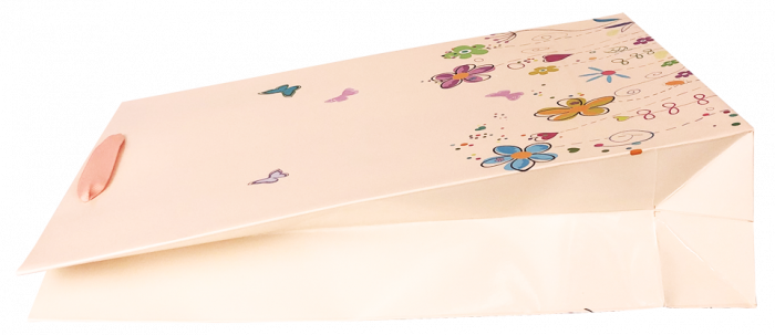 Punga cadou de hartie mare cu model vara - floricele [3]