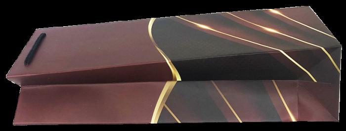 Punga de cadou pentru sticla model elegant visiniu [3]