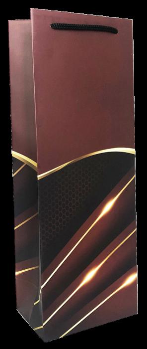 Punga de cadou pentru sticla model elegant visiniu [1]