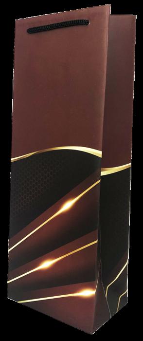 Punga de cadou pentru sticla model elegant visiniu [0]