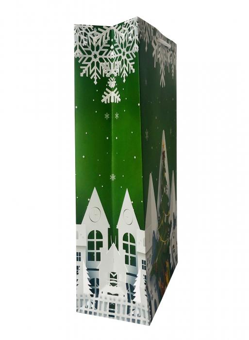 Punga de cadou mare cu model de Craciun [3]