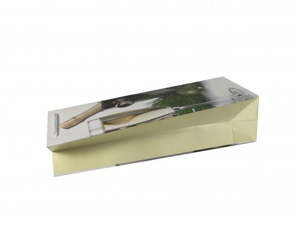Punga de cadou din hartie pentru sticla cu model festiv de Craciun [2]