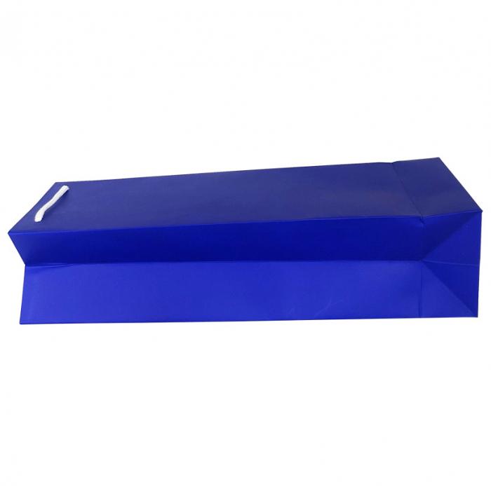 Punga de cadou din hartie pentru sticla albastru mat [3]
