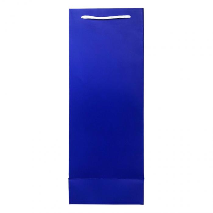 Punga de cadou din hartie pentru sticla albastru mat [2]