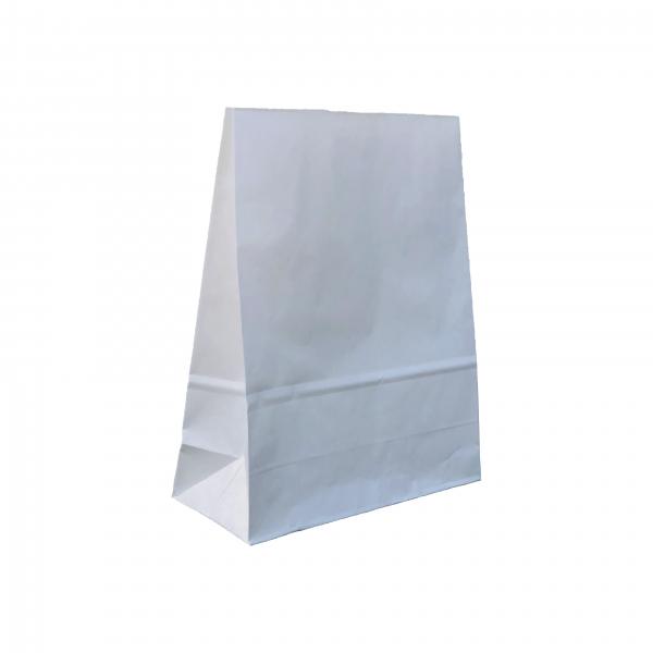Punga de hartie kraft albit 23.5x29x10 cm, fara manere 0