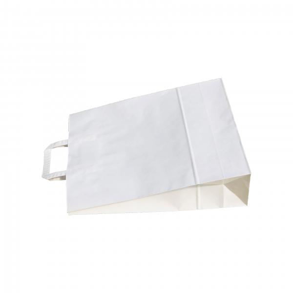 Punga de hartie kraft 32x39x12 cm cu manere din hartie plata 1