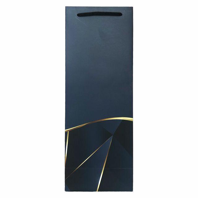 Punga de cadou pentru sticla model elegant bleumarin [3]