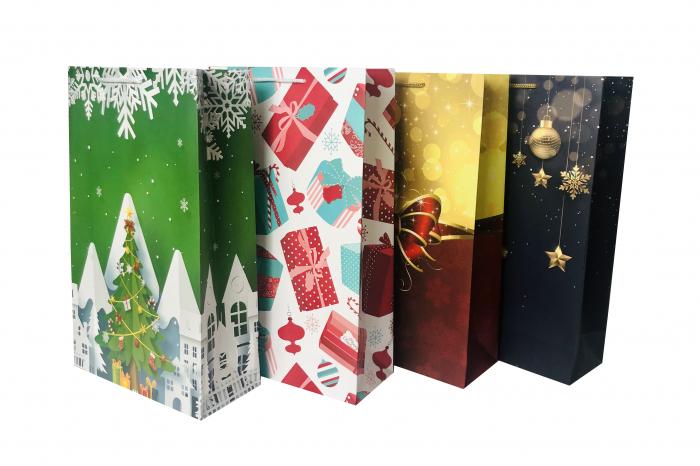 Set Punga de cadou mare cu modele variate Craciun 0