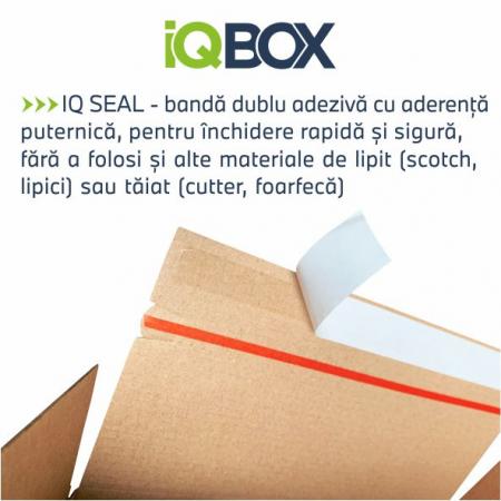 Cutie cu inaltime variabila IQBOX 210x165x55-115 mm, lipire rapida si banda de rupere4