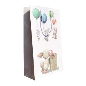 Punga cadou de hartie mare cu model pentru copii - iepurasi [0]