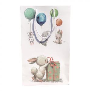 Punga cadou de hartie mare cu model pentru copii - iepurasi [1]