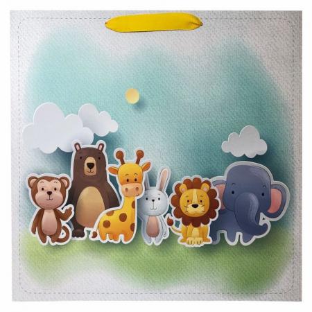 Punga de cadou cu model cu animale pentru copii, L [2]