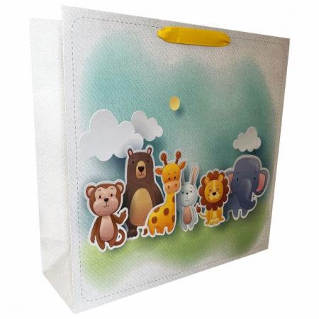 Punga de cadou cu model cu animale pentru copii, L [1]