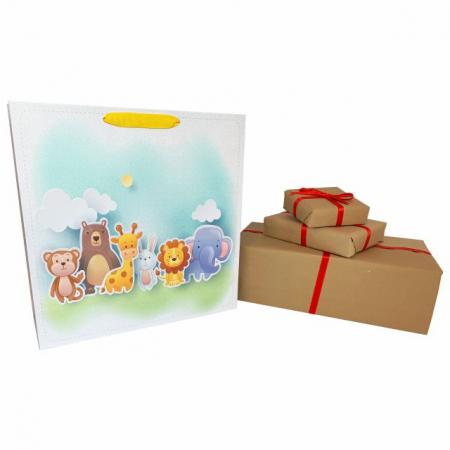 Punga de cadou cu model cu animale pentru copii, L [3]