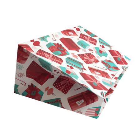 Punga de cadou gigant cu model cadouri de Craciun [2]
