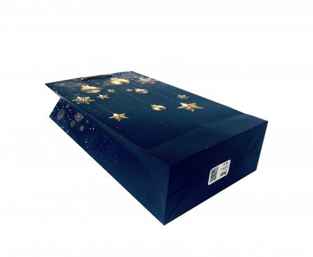 Punga de cadou mare cu model elegant de Craciun [4]