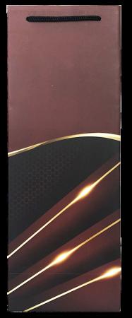Punga de cadou pentru sticla model elegant visiniu [2]