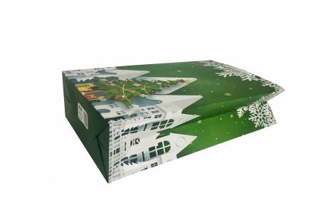 Punga de cadou mare cu model de Craciun [4]