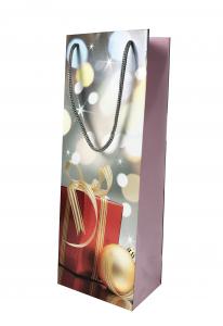 Punga de Cadou pentru Sticla cu model de Craciun1