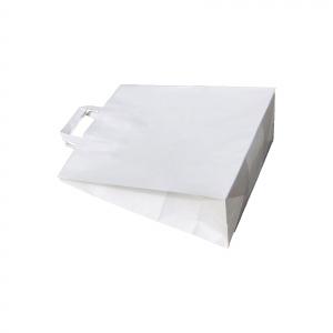Punga de hartie kraft 32x39x16.5 cm cu manere din hartie plata [1]