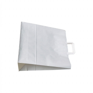 Punga de hartie kraft 41x40x13.5 cm cu manere din hartie plata1